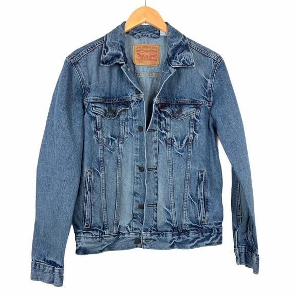 Levi's Mens Denim Trucker Jacket Small Blue Jean